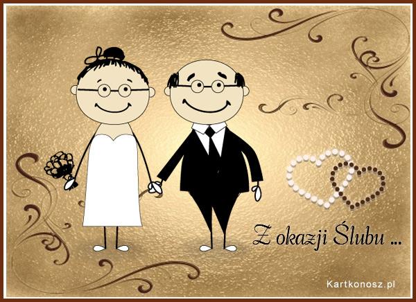 Kartka ślubna dla Nowożeńców
