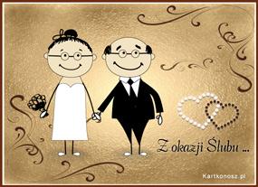 e Kartki  z tagiem: Ślub kartki darmowe Kartka ślubna dla Nowożeńców,