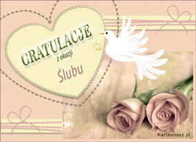 eKartki Z okazji Dnia Ślubne gratulacje,