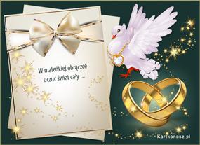 eKartki Z okazji Dnia Ślubny gołąbek,