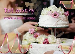 eKartki Z okazji Dnia Tort weselny,