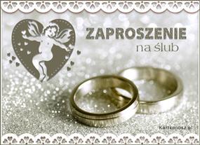 eKartki Z okazji Dnia Zaproszenie na Ślub,