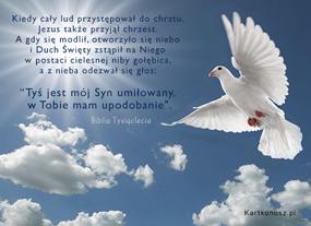 eKartki Religijne Duch Święty niby Gołębica,