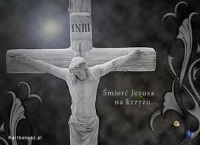 eKartki Religijne Śmierć Jezusa na krzyżu,