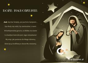 eKartki Religijne Syn Boży się rodzi,