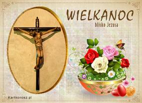 e Kartki Religijne Wielkanoc blisko Jezusa,