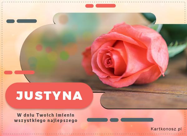 Justyna - Kartka Imieninowa