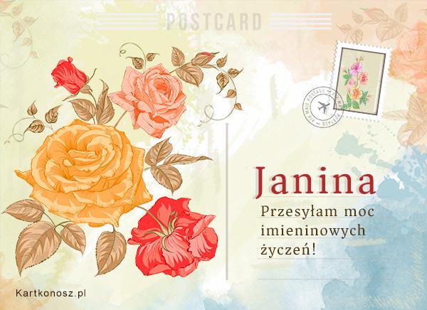 Pocztówka dla Janiny