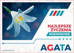 Agata - Kartka Imieninowa