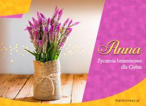 e Kartki  z tagiem: Anulka Anna - Kartka Imieninowa,