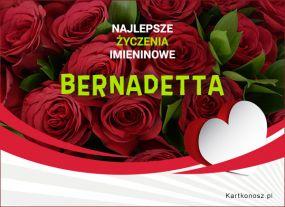 Bernadetta - Kartka Imieninowa