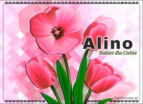 eKartki Imieniny Bukiet dla Aliny,