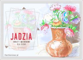 Imieninowe kwiaty dla Jadzi