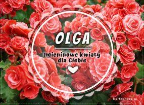 eKartki Imieniny Imieninowe kwiaty dla Olgi,