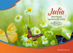 Julia - Kartka Imieninowa