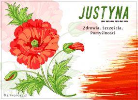 Kwiatek dla Justyny