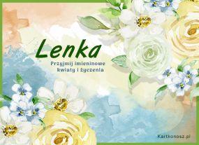 Kwiaty dla Lenki