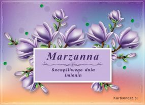 Marzanna - Kartka Imieninowa