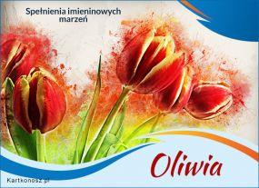 e Kartki  Oliwia - Kartka Imieninowa,