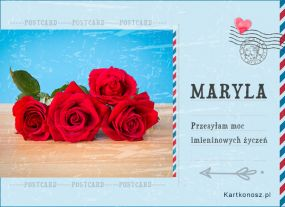 eKartki Imieniny Pocztówka dla Maryli,