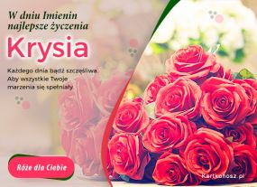 eKartki Imieniny Róże dla Krysi,
