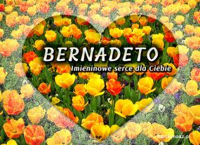 eKartki Imieniny Serce dla Bernadety,