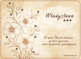 W dniu Imienin Władysławy