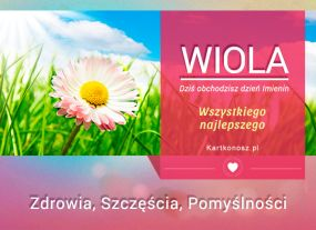 Wiola - Kartka Imieninowa