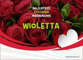 Wioletta - Kartka Imieninowa