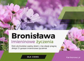 Życzenia dla Bronisławy