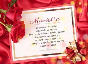 Życzenia dla Marietty