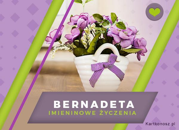 Kwiaty dla Bernadety