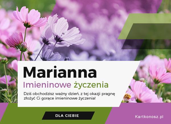 Życzenia dla Marianny