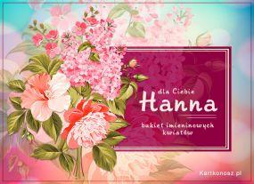 e Kartki  z tagiem: e-Kartki na imieniny Bukiet dla Hanny,