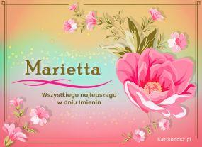 eKartki Imieniny Dla Marietty,