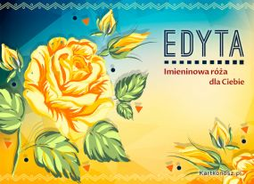 eKartki Imieniny Imieninowa róża dla Edyty,
