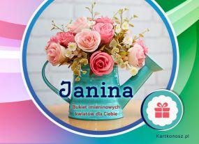 Janina - Kartka Imieninowa