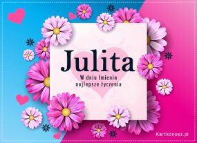 eKartki Imieniny Kartka dla Julity,