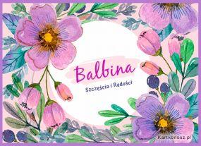 Kartka imieninowa dla Balbiny