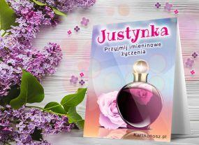 Kartka imieninowa dla Justynki