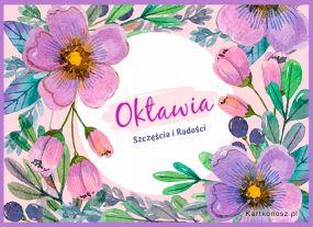 Kartka imieninowa dla Oktawii