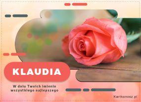 Klaudia - Kartka Imieninowa