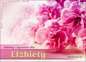 e Kartki  Kwiaty dla Elżbiety,