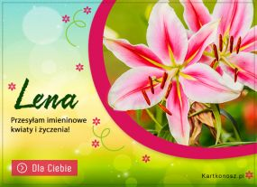 e Kartki Imieniny -> Imienne Damskie Kwiaty i życzenia dla Leny,