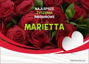 Marietta - Kartka Imieninowa