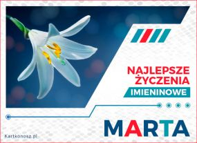Marta - Kartka Imieninowa