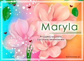 e Kartki Imieniny -> Imienne Damskie Maryla - Kartka Imieninowa,