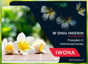 eKartki Imieniny Przesyłam Ci kwiaty Iwono!,