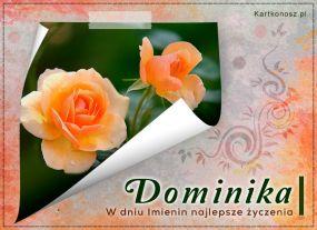 eKartki Imieniny Róże dla Dominiki,