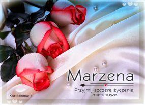e Kartki Imieniny -> Imienne Damskie Róże dla Marzeny,